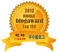 2013 대한민국 블로그 어워드 TOP100 엠블럼
