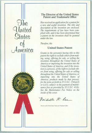 교차배치 미국특허증